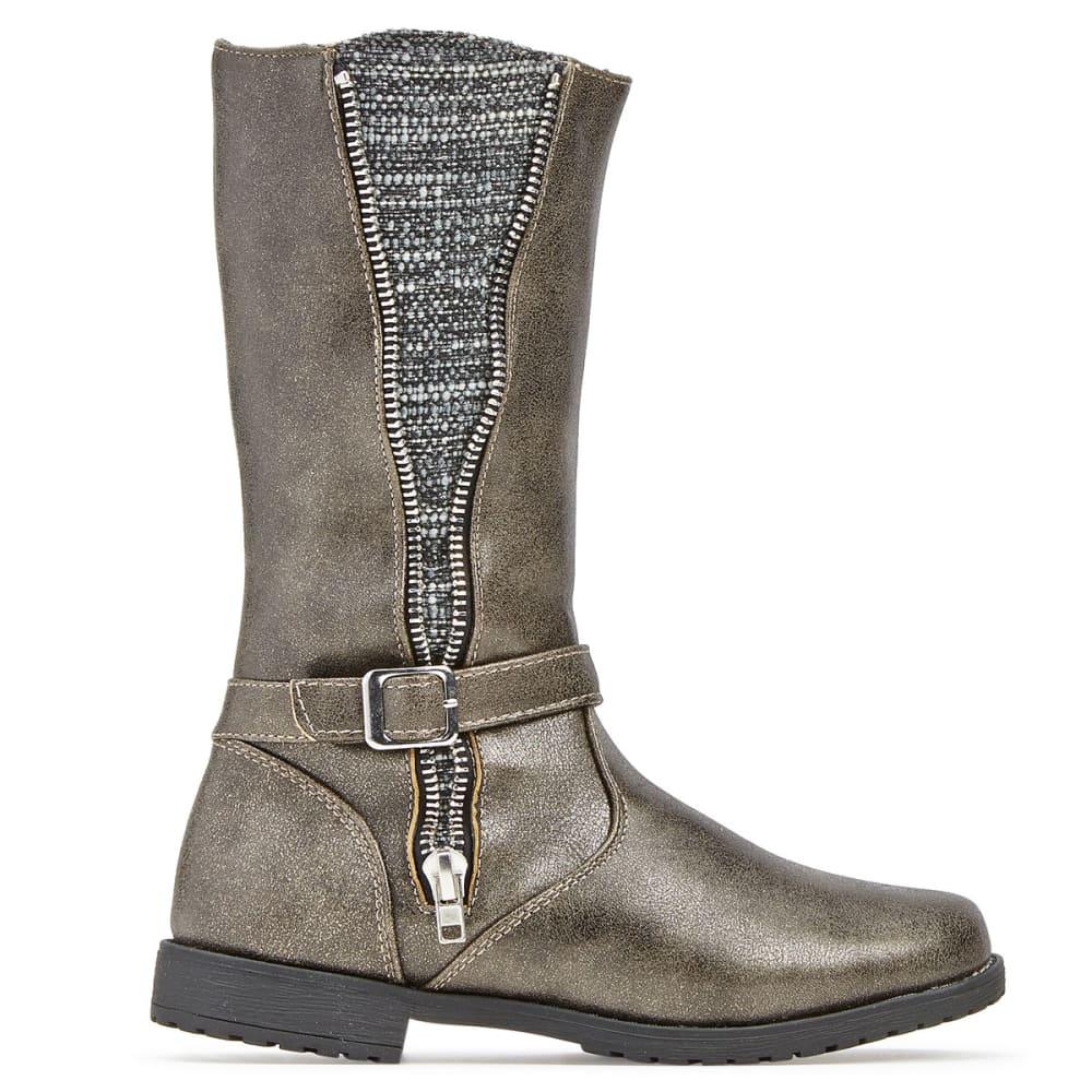 RACHEL SHOES Girls' Nicki Combo Riding Boots - GREY