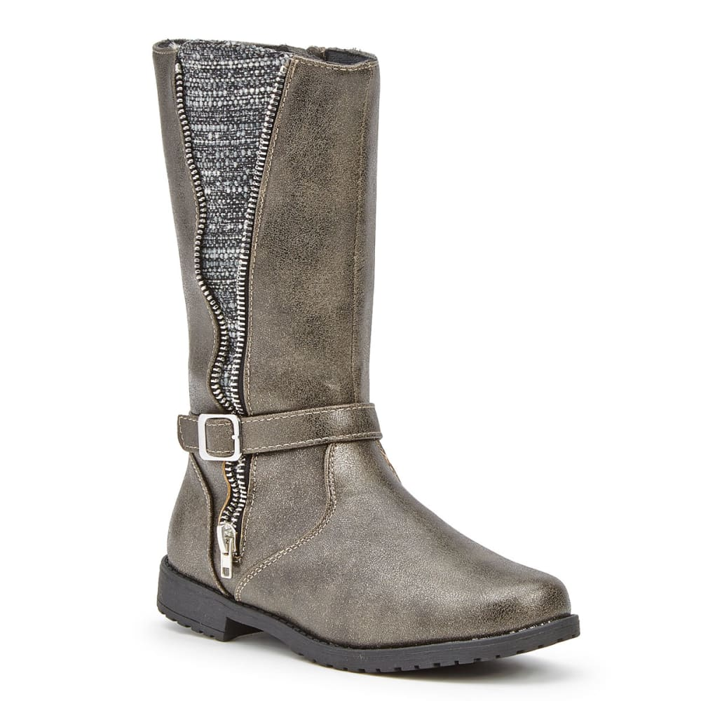 RACHEL SHOES Girls' Nicki Combo Riding Boots - GREY