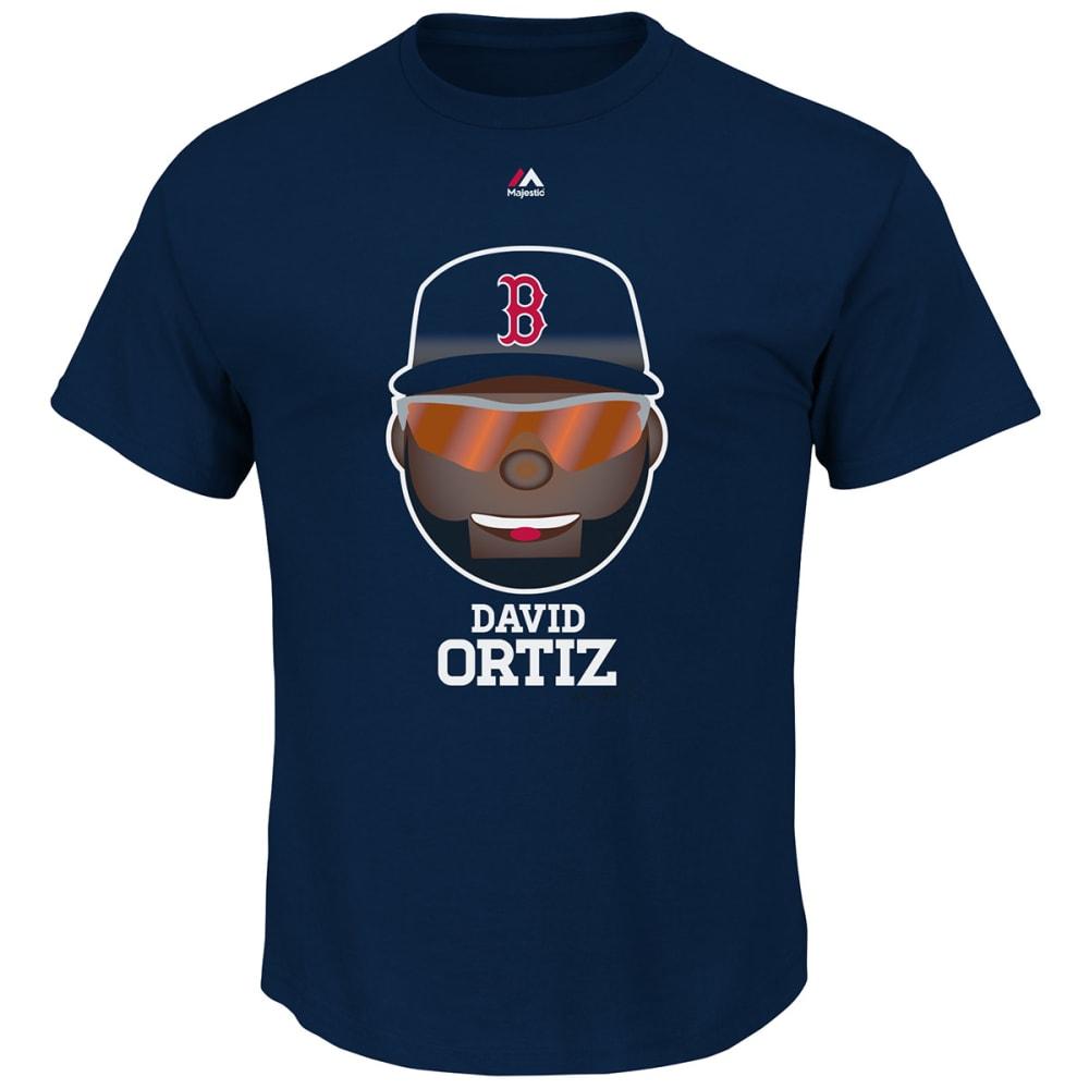 BOSTON RED SOX Men's Ortiz Emoji Short-Sleeve Tee - NAVY