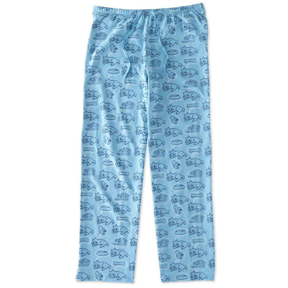 LIFE IS GOOD Juniors' Rocket Dream Sleep Pants - CLOUD BLUE