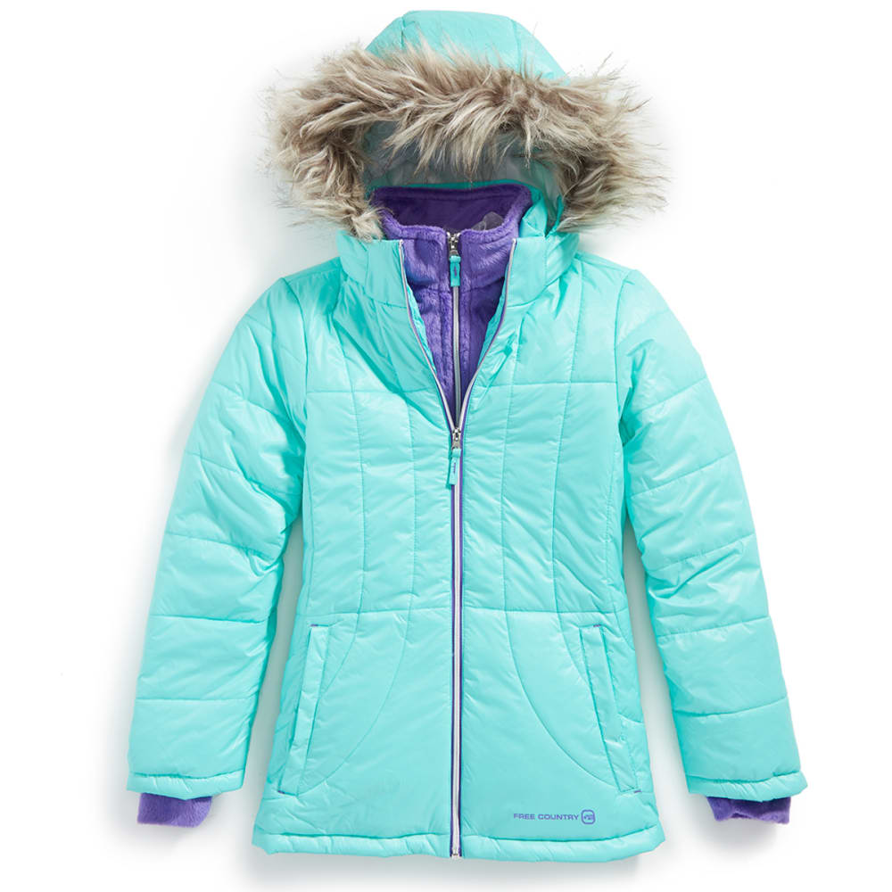 FREE COUNTRY Girls' Cire Puffer Jacket - SPEARMINT