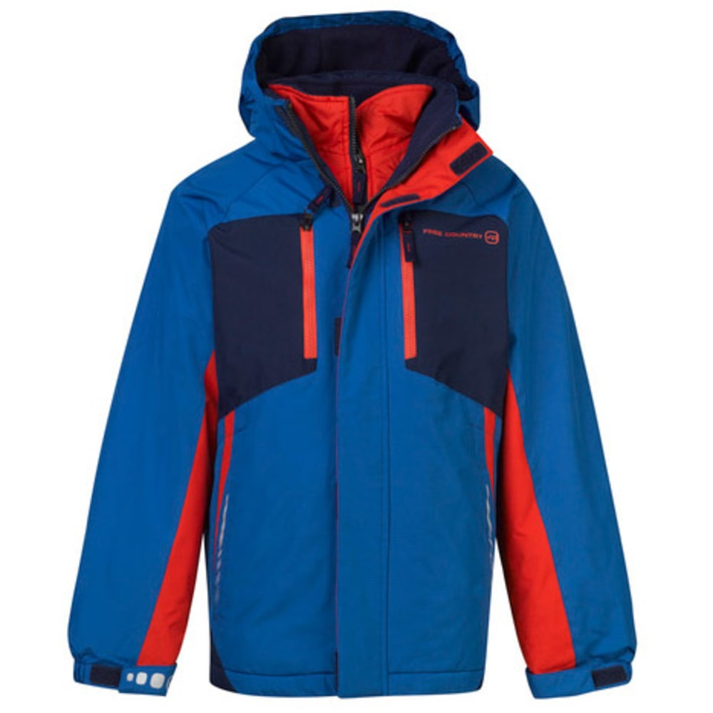 FREE COUNTRY Boys' Soleil Snowboard Jacket - ELECTRIC BLUE