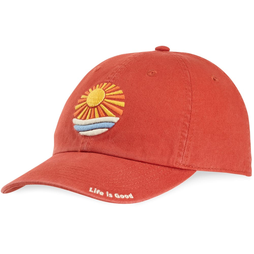 LIFE IS GOOD Women's Ocean Sun Rays Chill Cap - EARTHY RUST
