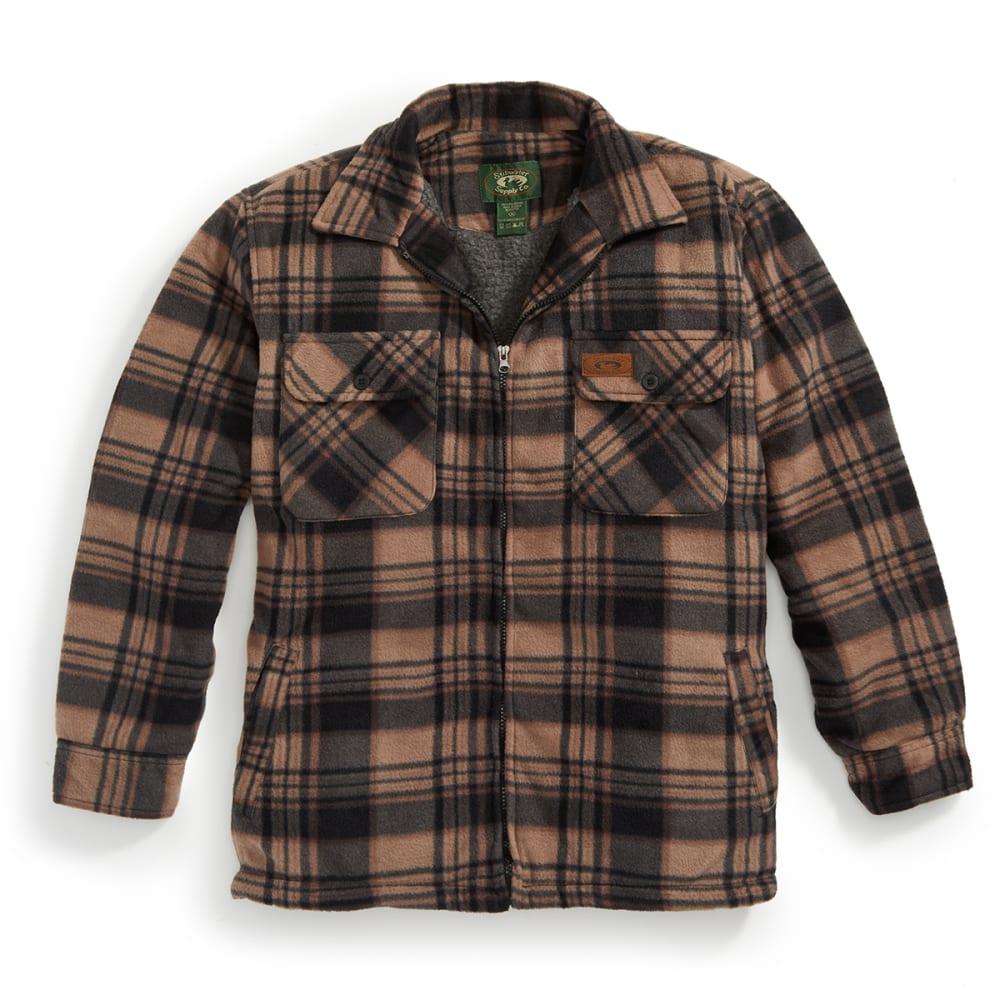 STILLWATER SUPPLY CO. Men's Plaid Shirt Jacket - PF2-BRN/BLK PLAID