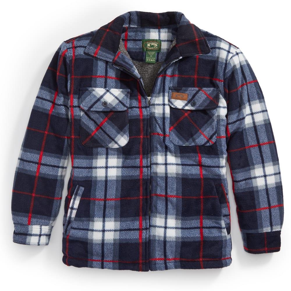 STILLWATER SUPPLY CO. Men's Plaid Shirt Jacket - PF1-NVY/RED PLAID