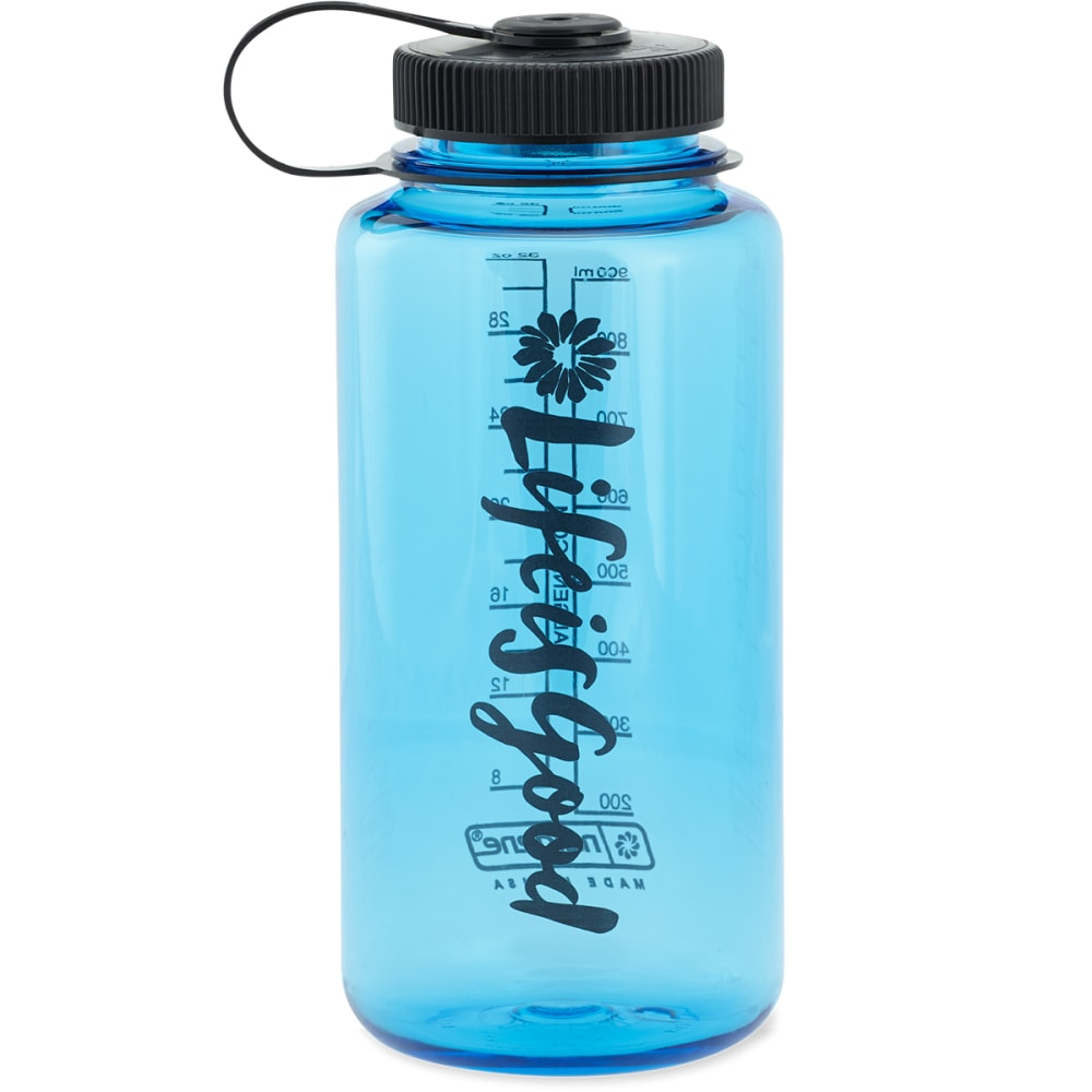 LIFE IS GOOD Women's Script Flower Water Bottle - NO COLOR