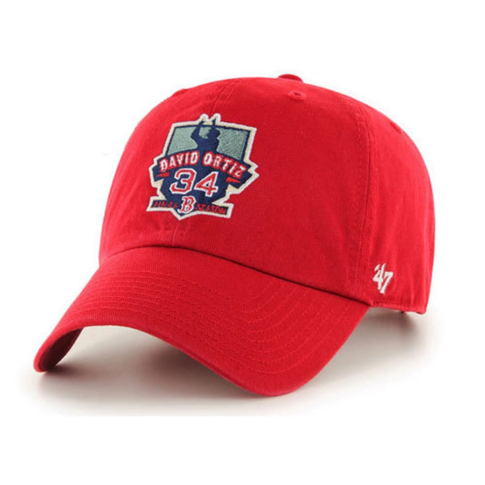 BOSTON RED SOX Men's David Ortiz Retirement Cap, Red - RED