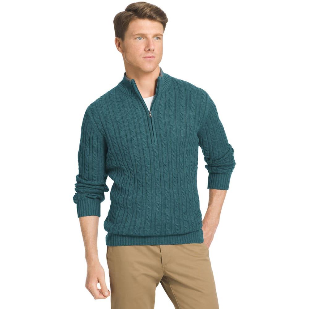 IZOD Men's Durham Cable Knit Sweater - 443-DEEP TEAL HTR