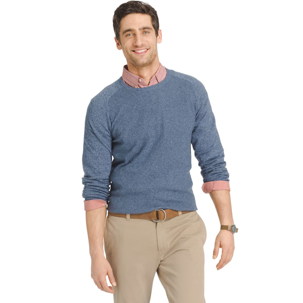 IZOD Men's Waffle Crew Sweater - ANCHOR-484