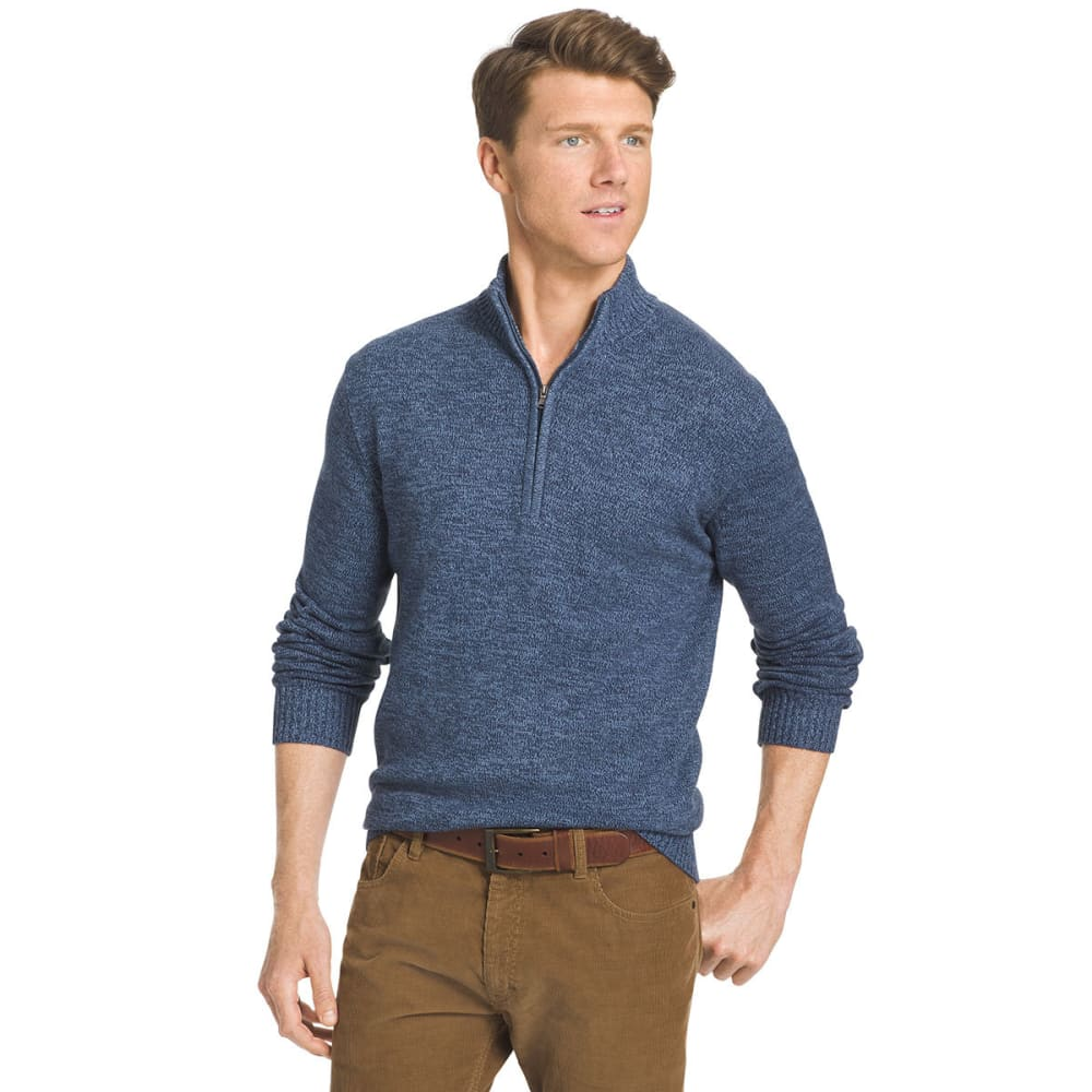 IZOD Men's Saltwater Marled ¼-Zip Sweater - 484-ANCHOR