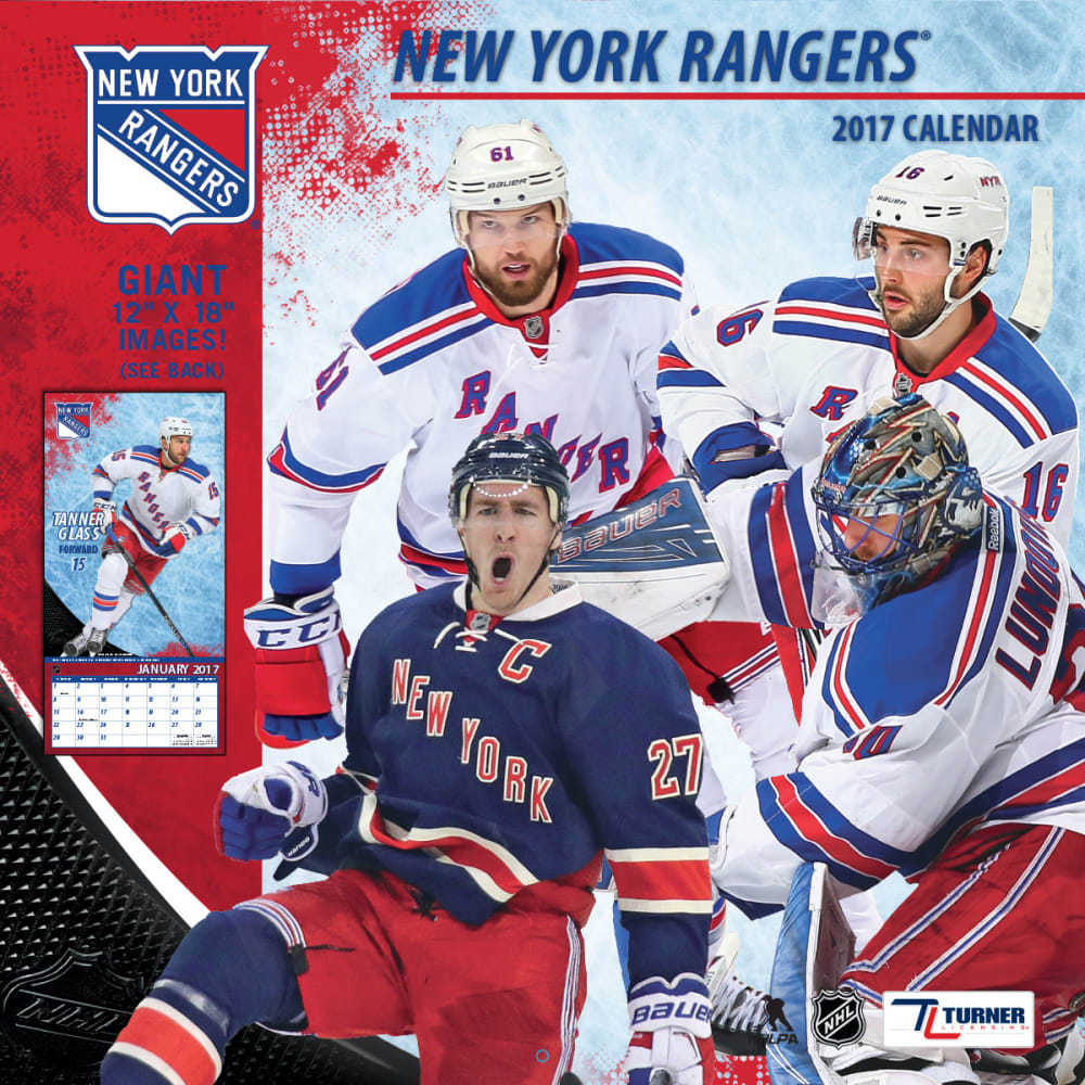 NEW YORK RANGERS 2017 Wall Calendar - ASSORTED