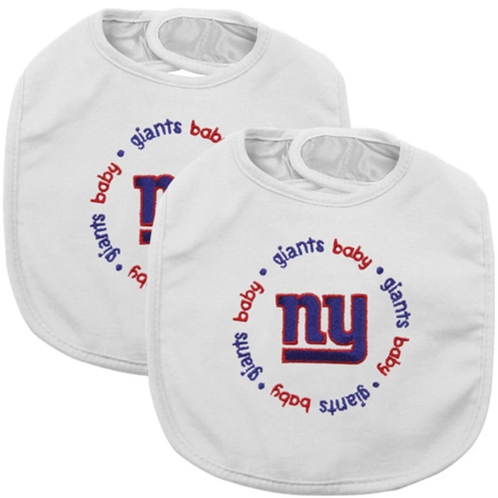 NEW YORK GIANTS Baby Bibs, 2 Pack - ASSORTED