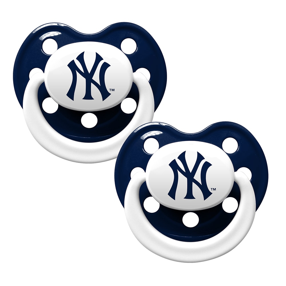 NEW YORK YANKEES Pacifier, 2 Pack - ASSORTED