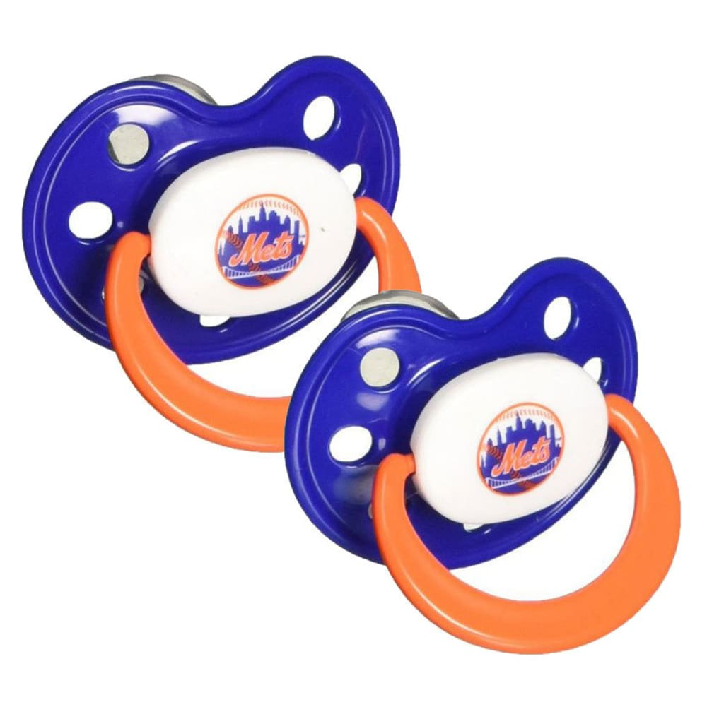 NEW YORK METS Pacifier, 2 Pack - ASSORTED