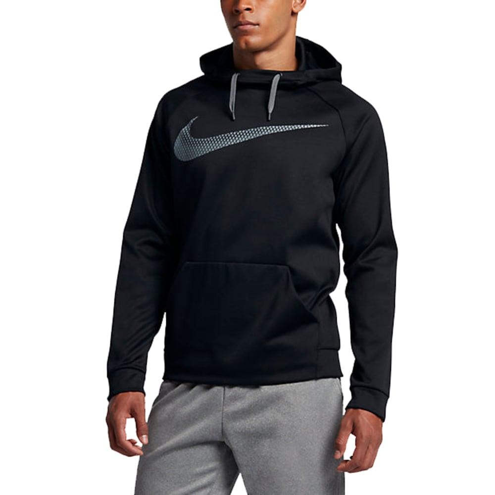 NIKE Men's Therma Training Pullover Hoodie - BLACK/COOL GREY-010