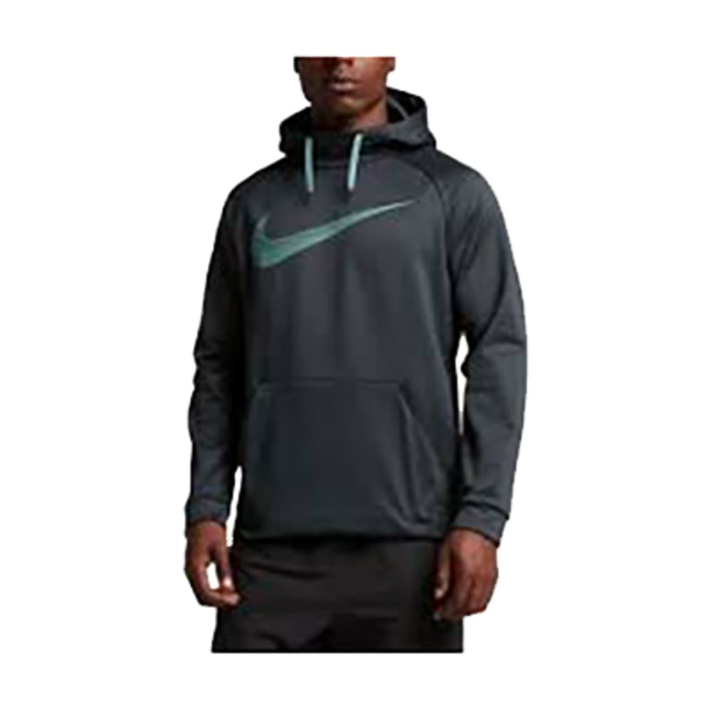NIKE Men's Therma Training Pullover Hoodie - SEAWEED/CANNON-364