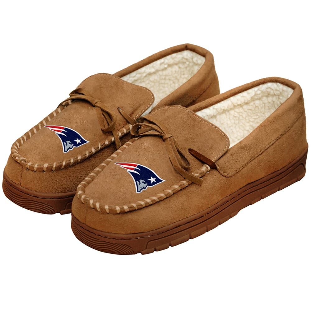 NEW ENGLAND PATRIOTS Men's Moccasin Slippers - BEIGE
