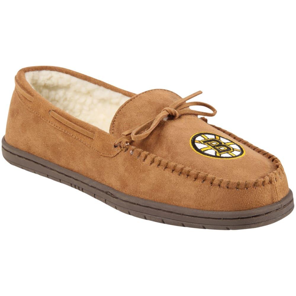 BOSTON BRUINS Men's Moccasin Slippers - BEIGE