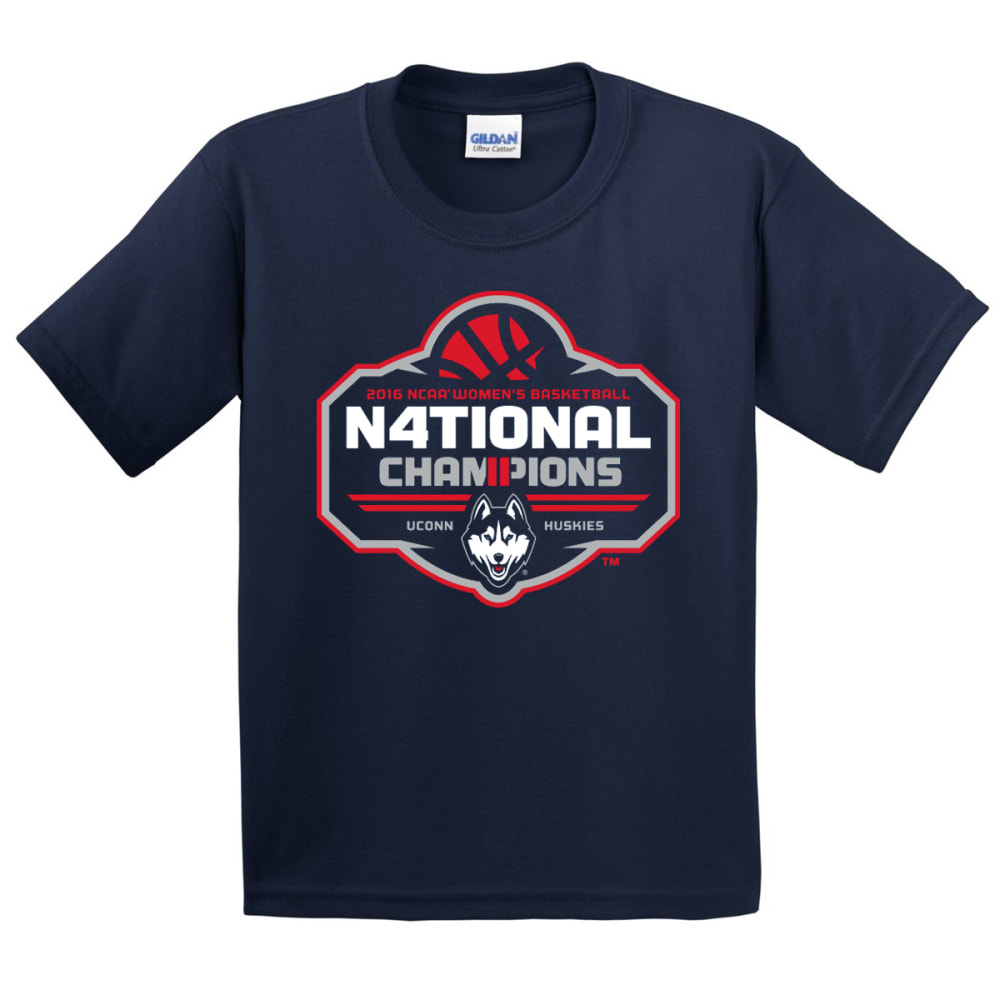 UCONN WOMEN Kids' 4 In A Row Tee - NAVY
