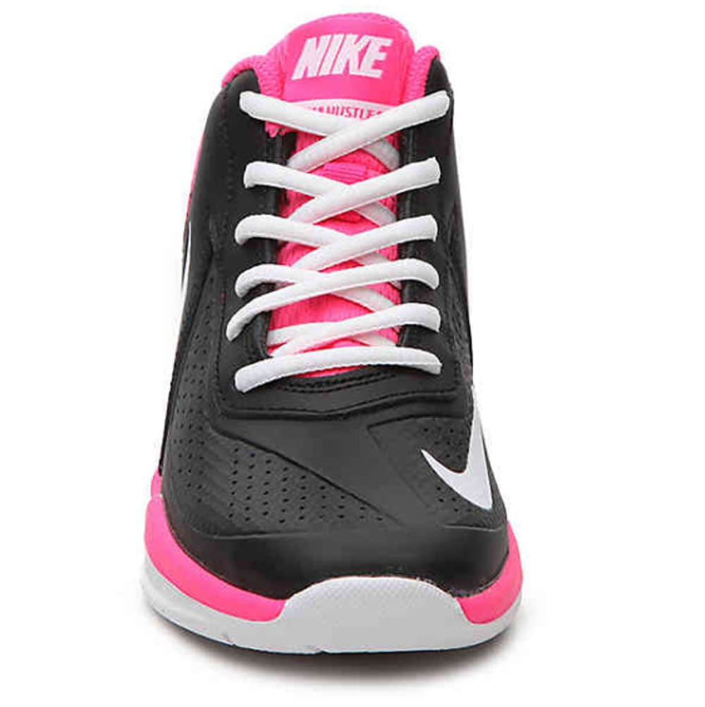 NIKE Little Girls' Team Hustle D 7 Basketball Shoes - BLACK