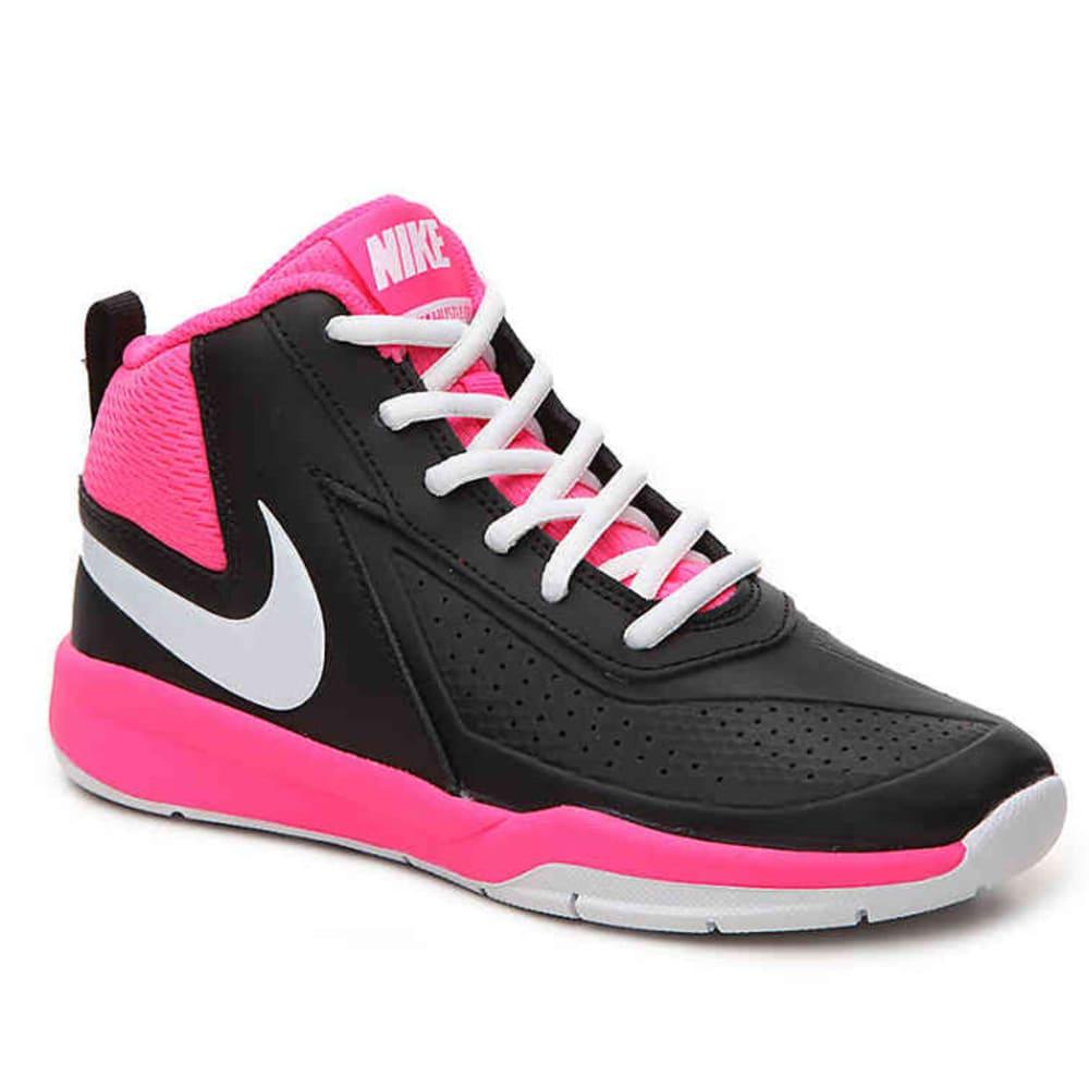 NIKE Little Girls' Team Hustle D 7 Basketball Shoes - BLACK