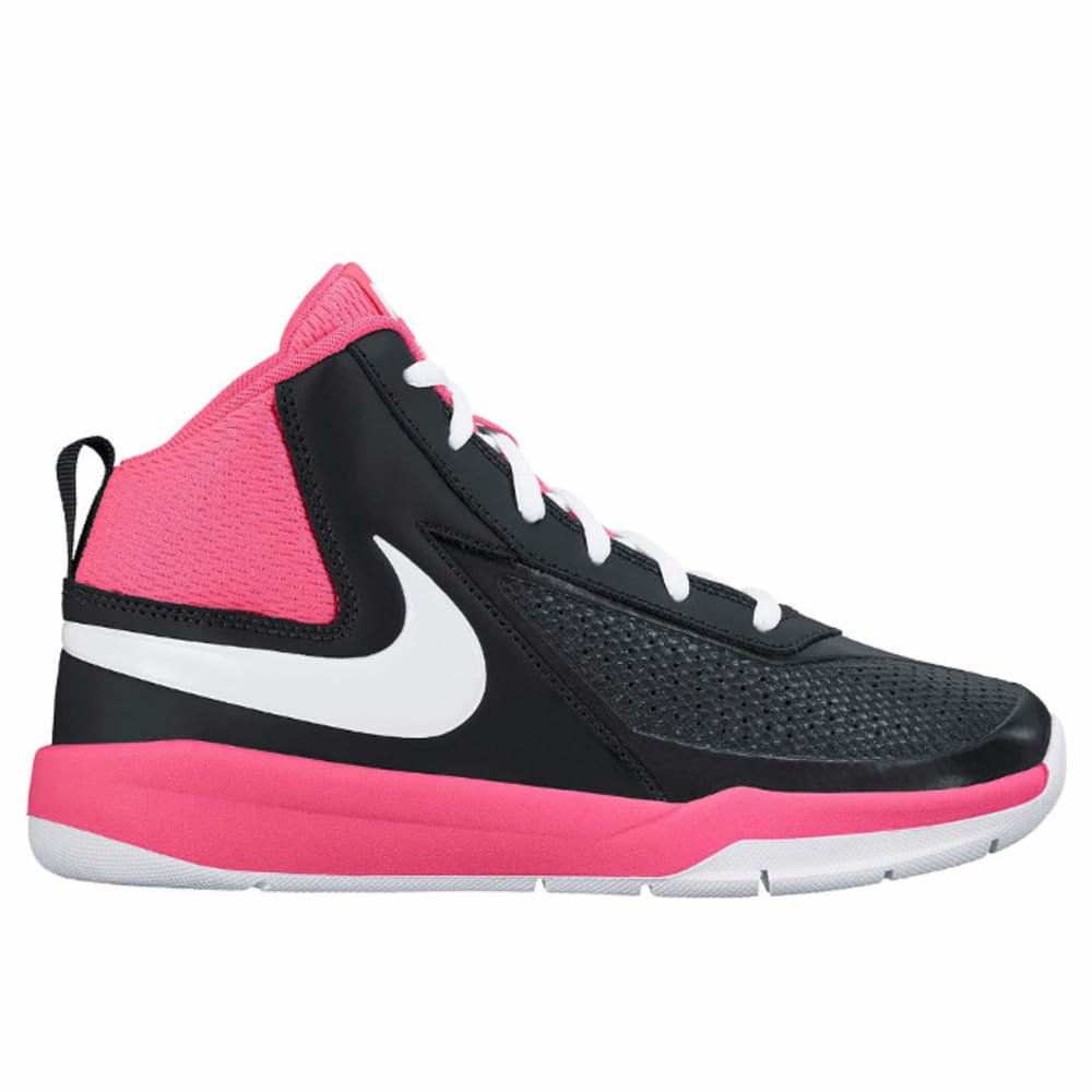 NIKE Big Girls' Team Hustle D 7 Basketball Shoes - BLACK
