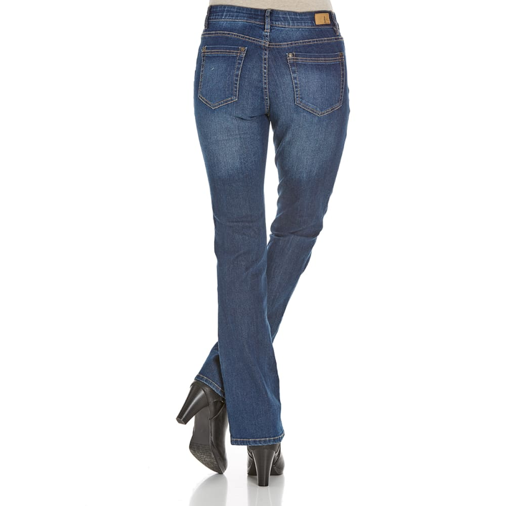 SUPPLIES BY UNIONBAY Women's Shaylee Skinny Boot Cut Jeans - 421J FADED INDIGO