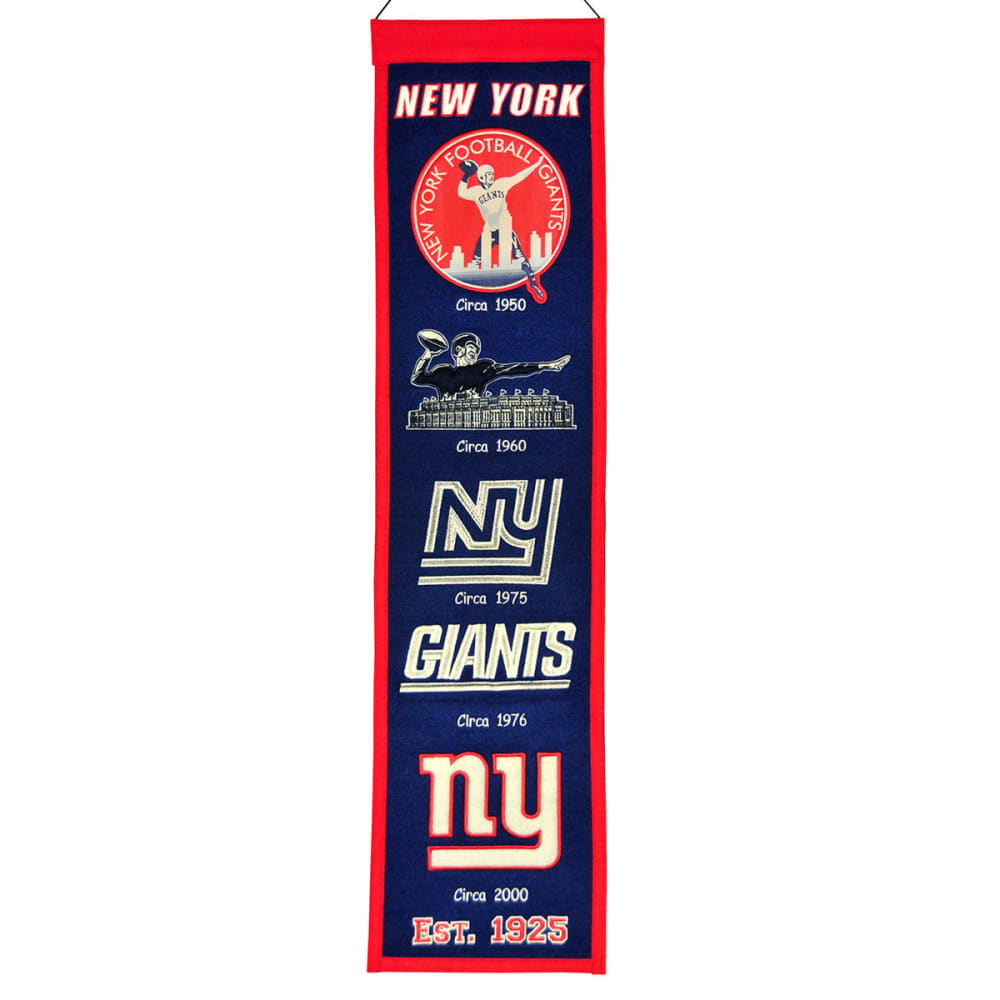 NEW YORK GIANTS Heritage Banner ONE SIZE