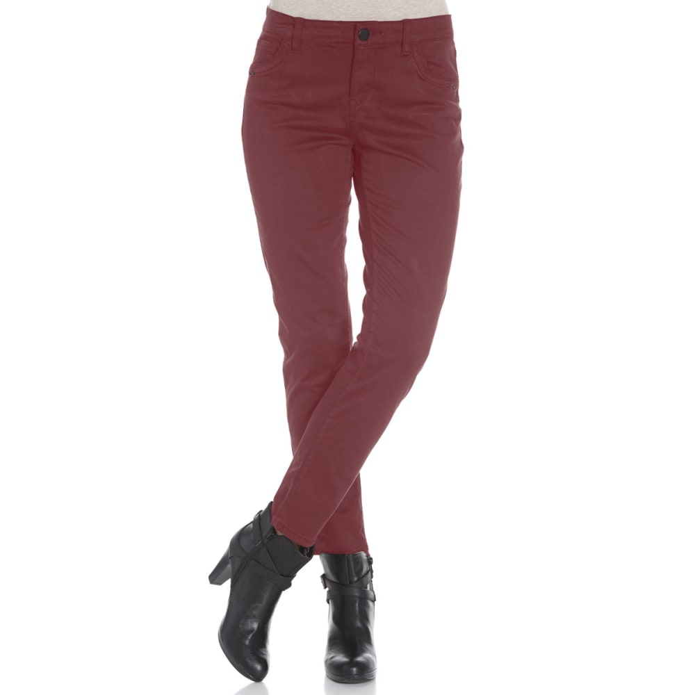SUPPLIES BY UNIONBAY Women's Shaylee 5-Pocket Skinny Jeans - 644J CABERNET BURG