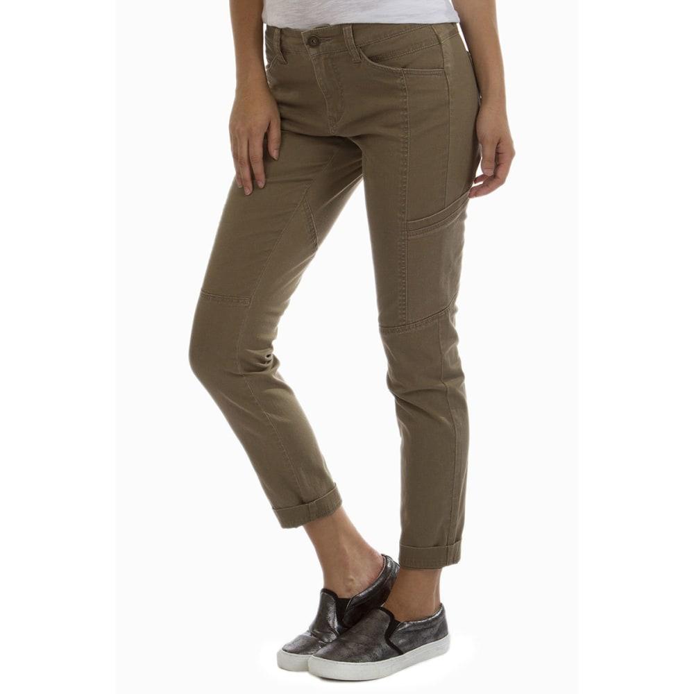 SUPPLIES BY UNION BAY Women's Mallory Twill Skinny Jeans - 228J LT WALNUT