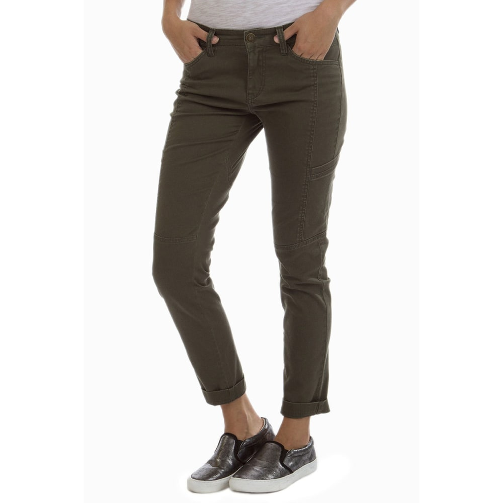 SUPPLIES BY UNION BAY Women's Mallory Twill Skinny Jeans - 339J FATIGUE GREEN
