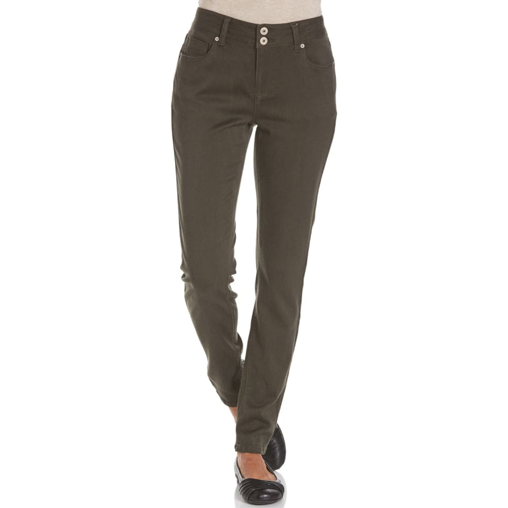 STITCH+STAR Women's VP Color Skinny Pants - AD-MILITARY OLIVE