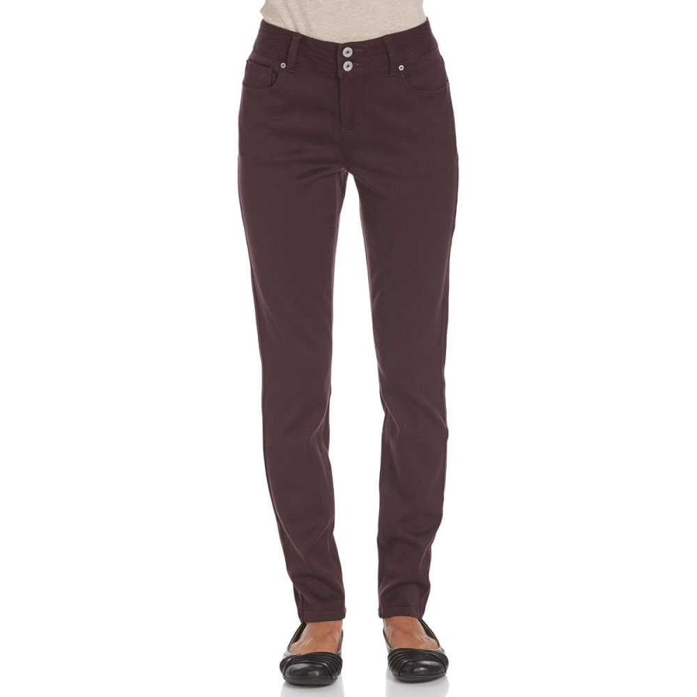 STITCH+STAR Women's VP Color Skinny Pants - AE-DEEP PURPLE