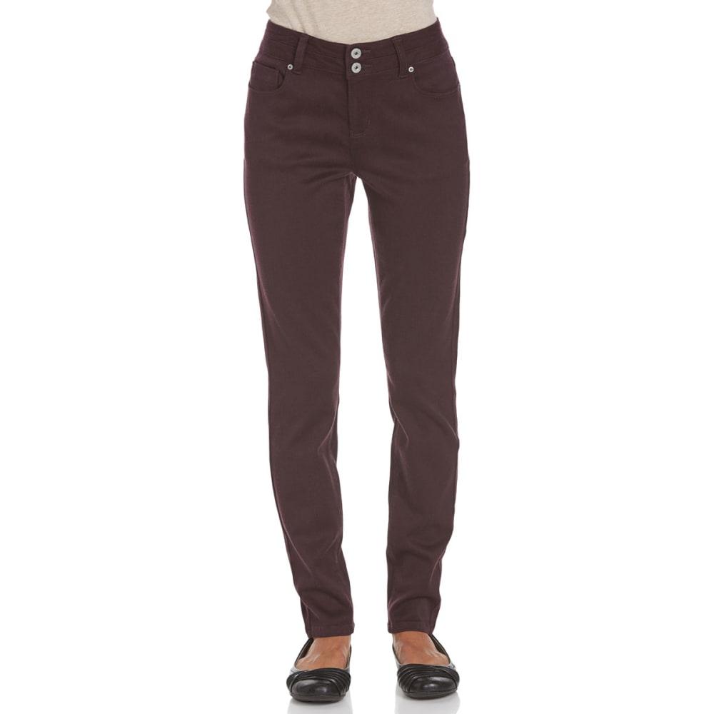 STITCH+STAR Women's VP Color Skinny Pants - AE-DEEP PURPLE