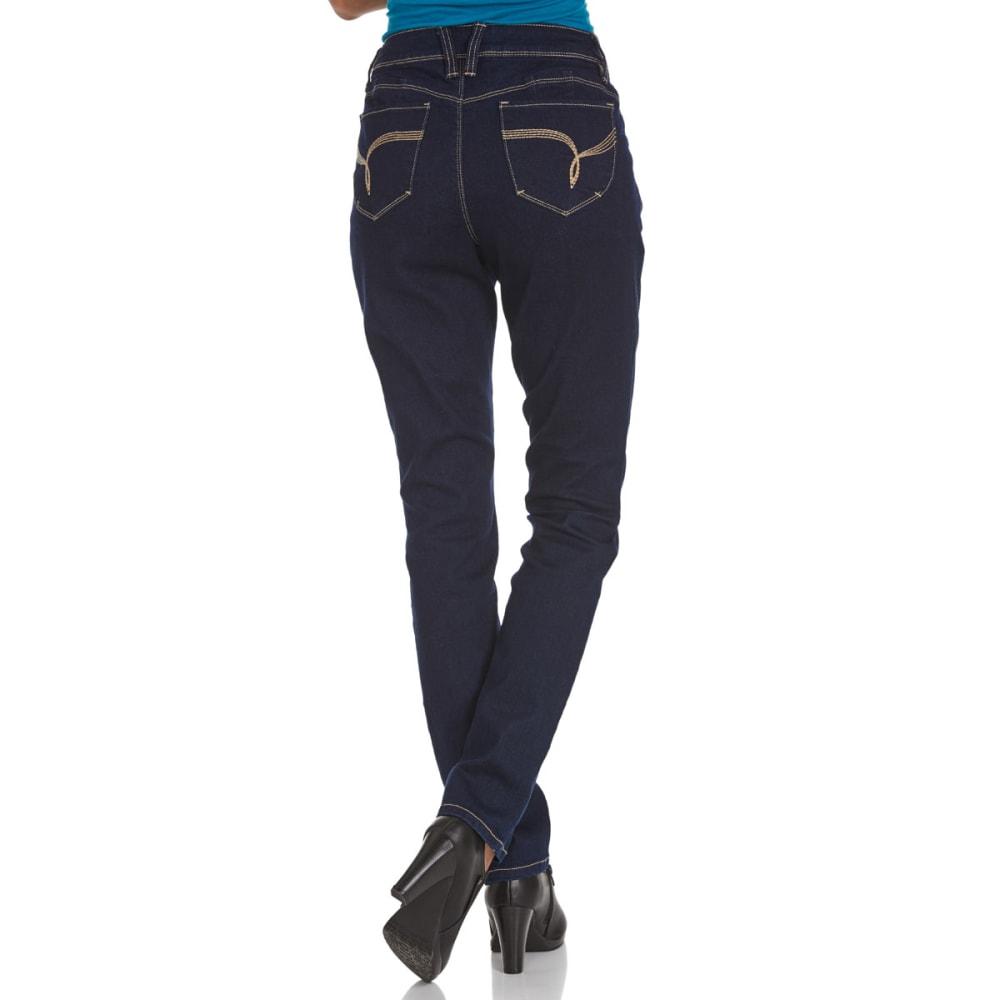 ROYALTY Women's Wanna Betta Butt Rayon Skinny Jeans - S37 RINSE WASH