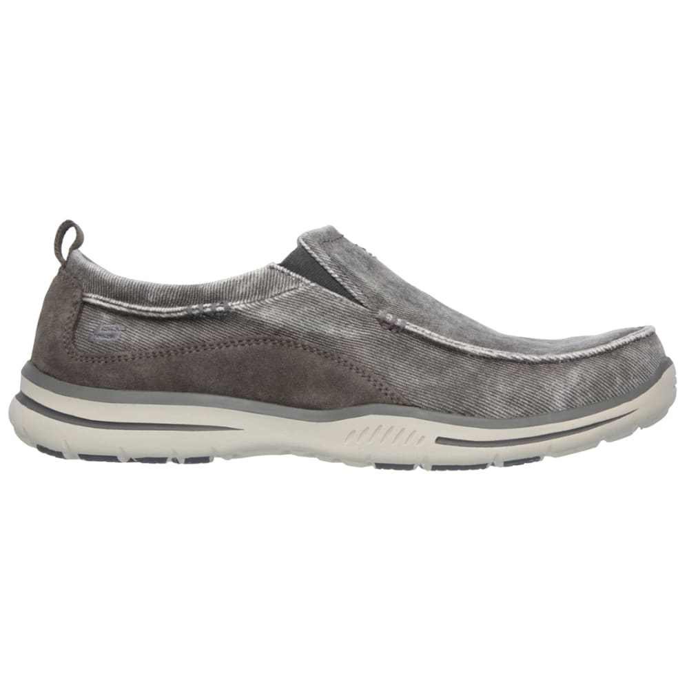 "SKECHERS Men's Relaxed Fit: Elected """" Drigo Shoes - CHARCOAL"