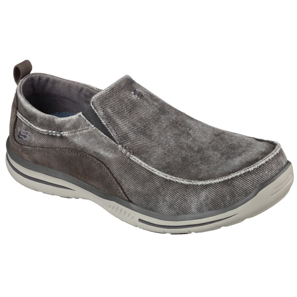 """SKECHERS Men's Relaxed Fit: Elected """""""" Drigo Shoes - CHARCOAL"""