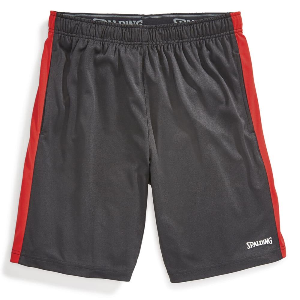SPALDING Men's Training Shorts - BLACK/RED COAST-011