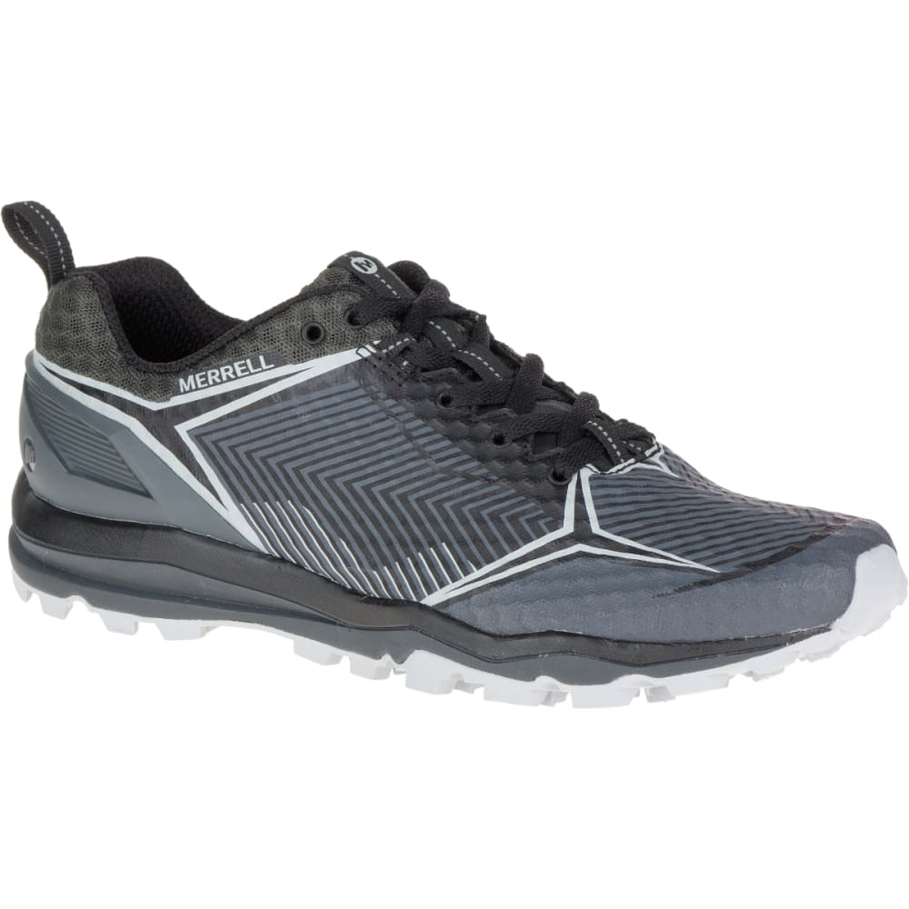 MERRELL Men's All Out Crush Shield Waterproof Running Shoe, Black/Granite - BLACK/GRANITE
