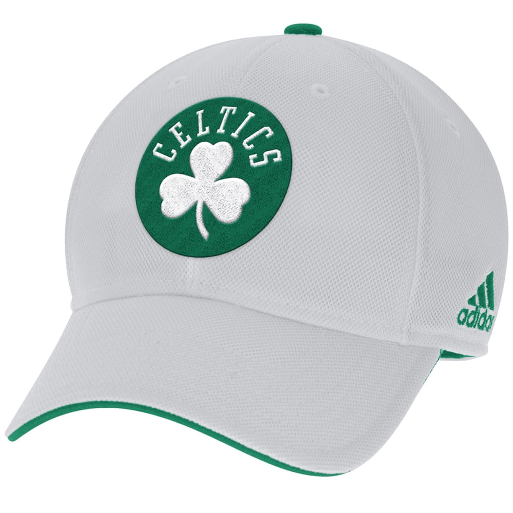 ADIDAS BOSTON CELTICS Men's White Stretch Flex Hat - WHITE