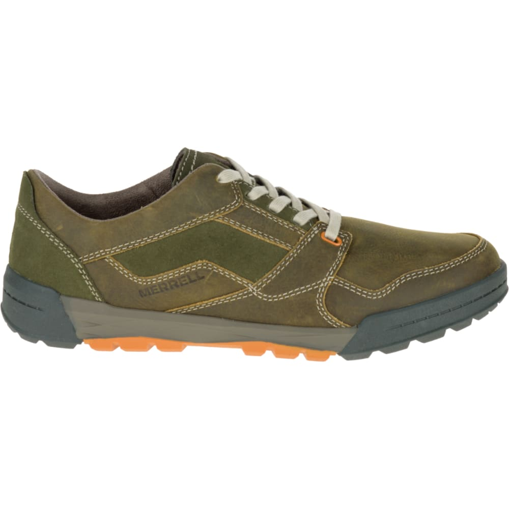MERRELL Men's Berner Lace Up Sneaker, Dusty Olive - DUSTY OLIVE