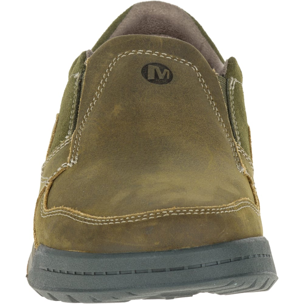MERRELL Men's Berner Moc, Dusty Olive - DUSTY OLIVE