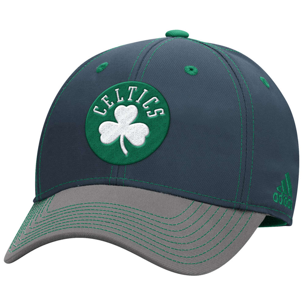 ADIDAS BOSTON CELTICS Men's Two-Tone Stretch Flex Hat - GREY