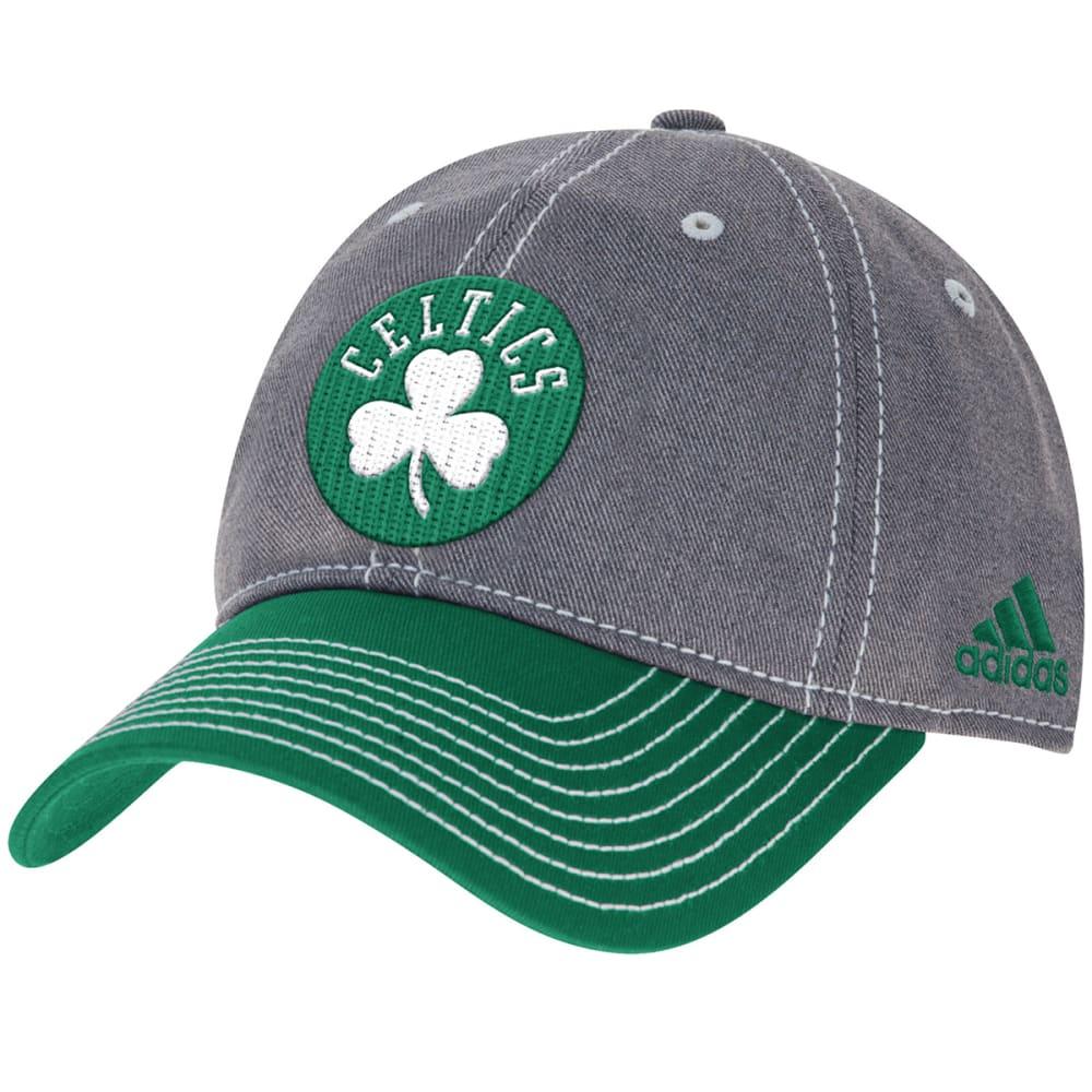 ADIDAS BOSTON CELTICS Men's Two-Tone Adjustable Hat - GREY