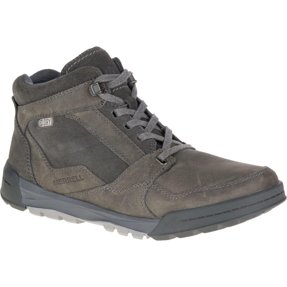 MERRELL Men's Berner Mid Waterproof Sneaker, Castle Rock - GRANITE