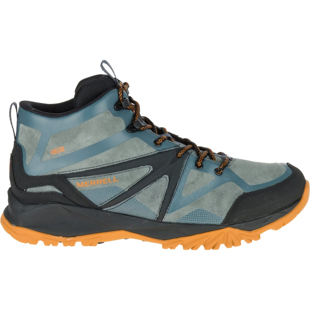 MERRELL Men's Capra Bolt Leather Mid Waterproof Hiking Shoes, Dark Slate - DARK SLATE