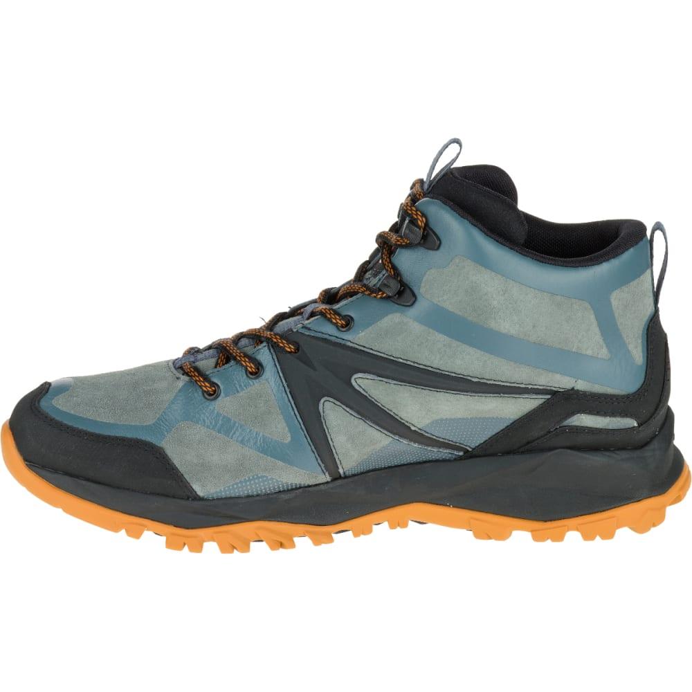 MERRELL Men's Capra Bolt Leather Mid Waterproof Hiking Shoes, Dark Slate - DARK SLATE