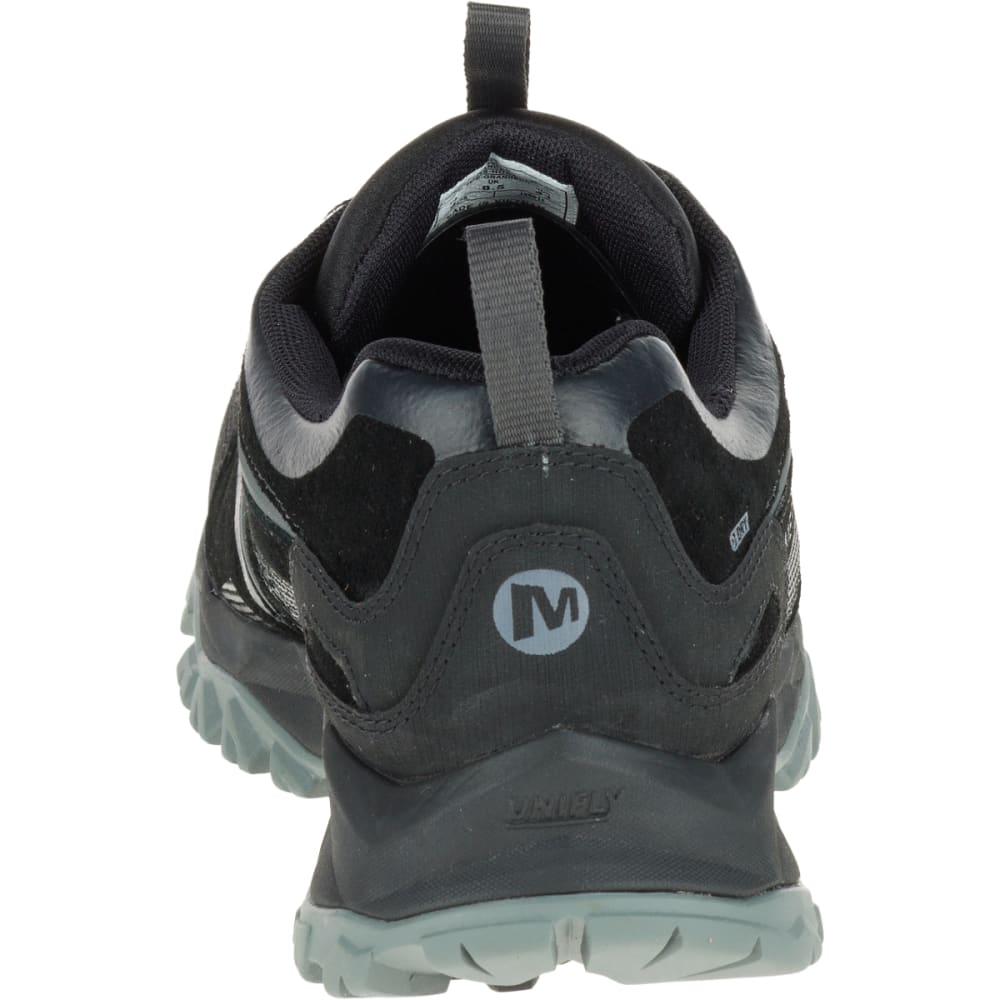 MERRELL Men's Capra Bolt Leather Waterproof Hiking Shoes, Black - BLACK