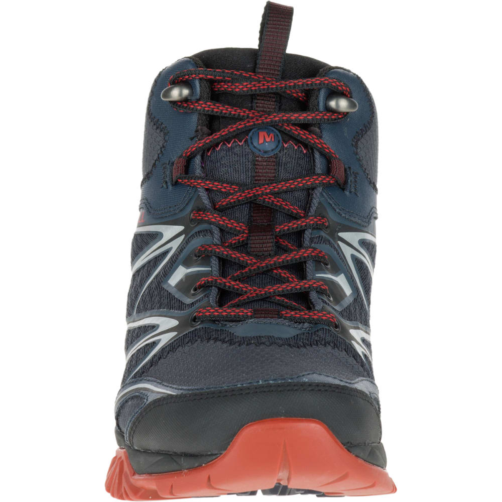 MERRELL Men's Capra Bolt Mid Waterproof Hiking Shoes, Black/Navy - BLACK/NAVY