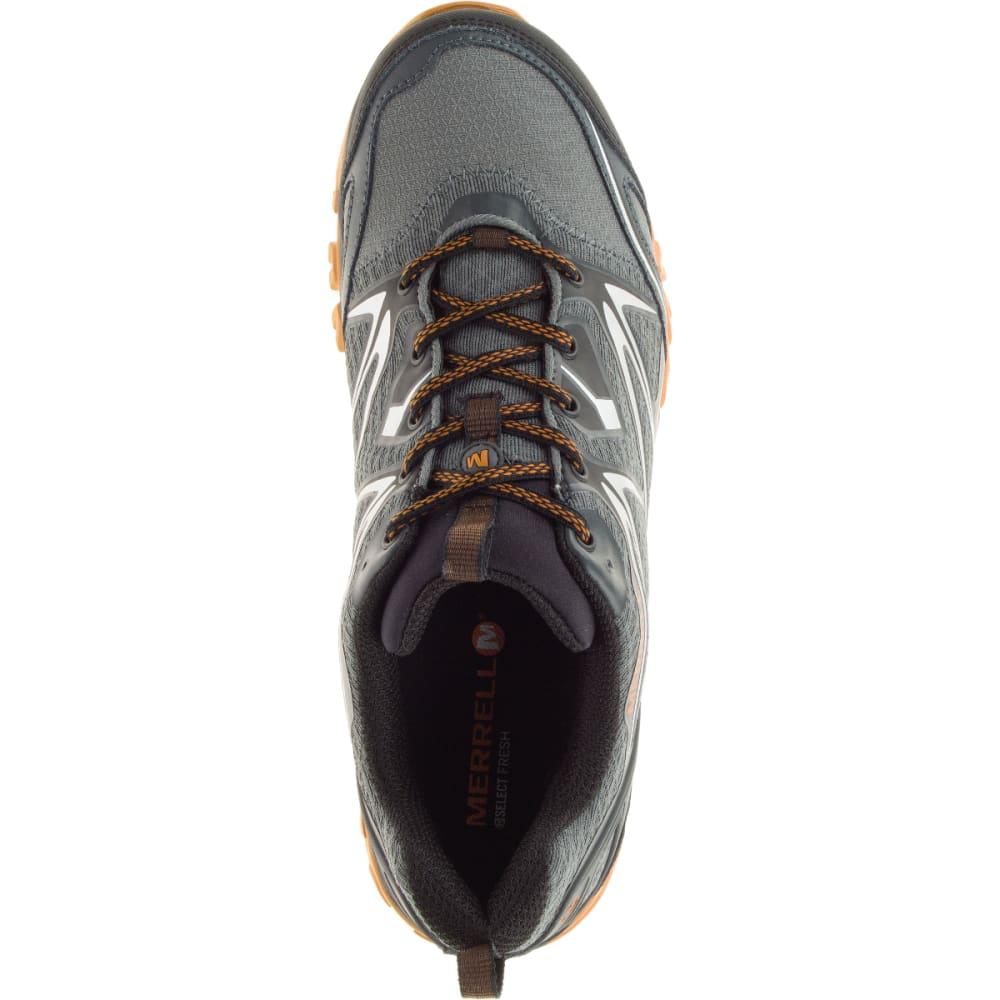 MERRELL Men's Capra Bolt Waterproof Hiking Shoes, Grey/Orange - GREY/ORANGE